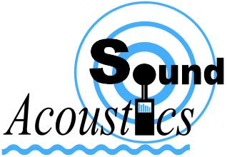 sound acoustics ltd logo showing sound level meter and sound waves